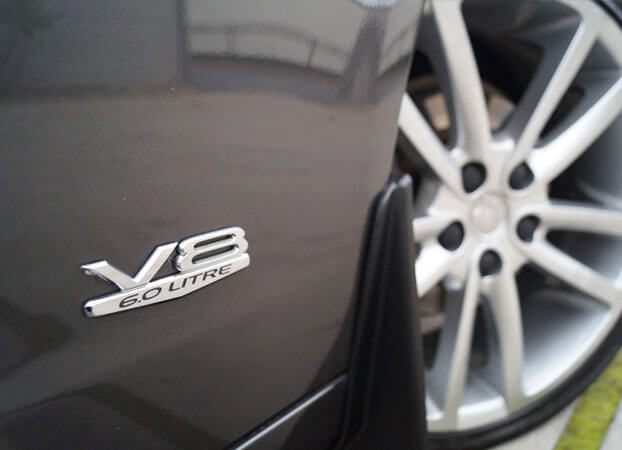 A closeup look at V8 6.0 Litres